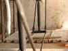 contraffisso metallico per la riparazione di una trave in legno storica lesionata
